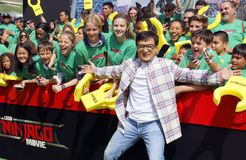 Jackie Chan. At the Los Angeles premiere of `The LEGO Ninjago Movie` held at the Regency Village Theatre in Westwood, USA on September 16, 2017 stock photo