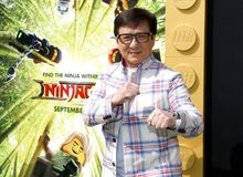 Jackie Chan. At the Los Angeles premiere of `The LEGO Ninjago Movie` held at the Regency Village Theatre in Westwood, USA on September 16, 2017 stock images