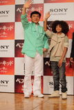 Jackie Chan and Jaden Smith in Karate Kid. Tokyo Press Conference for Japan Premiere of Karate Kid (Best Kid Royalty Free Stock Image