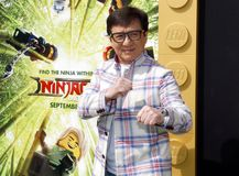 Jackie Chan. At the Los Angeles premiere of `The LEGO Ninjago Movie` held at the Regency Village Theatre in Westwood, USA on September 16, 2017 stock photos