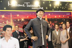 Jackie Chan at Madame Tussauds in Bangkok. Wax figure of Jackie Chan at Madame Tussauds in Bangkok Royalty Free Stock Image