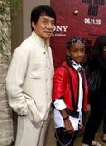 Jackie Chan och Jaden Smith Fotografering för Bildbyråer