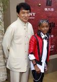 Jackie Chan och Jaden Smith Royaltyfri Bild
