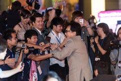 Jackie Chan przy smoka ostrza premiera Zdjęcie Royalty Free