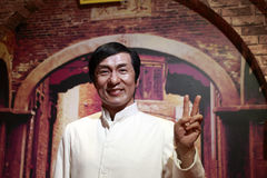Jackie chan's wax figure Royalty Free Stock Images