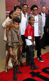 Jackie Chan, Will Smith, Jada Pinkett Smith, Jaden Smith och Willow Smith Royaltyfria Bilder