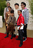 Jackie Chan, Will Smith, Jada Pinkett Smith, Jaden Smith och Willow Smith Royaltyfri Fotografi