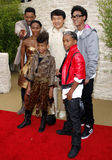 Jackie Chan, Will Smith, Jada Pinkett Smith, Jaden Smith och Willow Smith Royaltyfri Bild