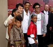 Jackie Chan, Will Smith, Jada Pinkett Smith, Jaden Smith och Willow Smith Royaltyfria Foton