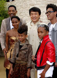 Jackie Chan, Will Smith, Jada Pinkett Smith, Jaden Smith och Willow Smith Arkivbild
