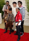 Jackie Chan, Will Smith, Jada Pinkett Smith, Jaden Smith och Willow Smith Arkivfoto