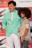 Jackie Chan y Jaden Smith en Karate Kid Imagen de archivo libre de regalías
