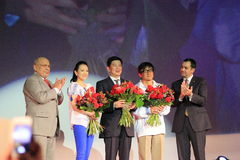Jackie Chan and Zhang Ziyi at Chinese Film Days Royalty Free Stock Photography
