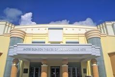 Jackie Gleason Theater delle arti dello spettacolo nel distretto di art deco della spiaggia del sud, Miami Beach, Florida Fotografia Stock Libera da Diritti