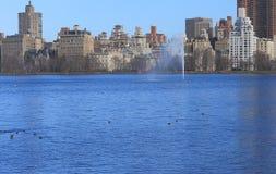 Jackie Onassis Reservoir no Central Park, New York Imagens de Stock
