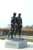 Jackie Robinson and Pee Wee Reese Statue in Brooklyn in front of MCU ballpark Stock Photography