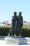 Jackie Robinson and Pee Wee Reese Statue in Brooklyn Royalty Free Stock Photography