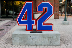 Jackie Robinson`s Number Royalty Free Stock Images