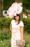 Jackie St Clair på Ascot lopp Royaltyfria Bilder
