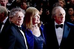 Jackie Stewart z jego żoną Helen i Roman Polanski zdjęcie stock