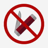 Jackknife Icon illustration. Jackknife icon. Flat desighn style. Multi tool knife is not allowed Stock Image