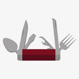 Jackknife Icon illustration. Jackknife multi tool army knife icon. Flat desighn style Stock Images