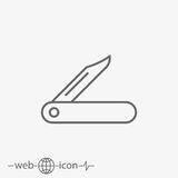 Jackknife vector icon. On grey background Stock Images