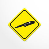 Jackknife. Vector illustration. Black and white image on a specific background Royalty Free Stock Photography