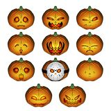 JackOLantern. Jack-O-Lanterns are the perfect Halloween item and these are just what you are looking for. Use these Jack-O-Lanterns to exchange eyes and mouths royalty free illustration
