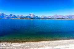 Jackon湖和Teton范围 库存图片