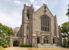 Jackons, Mitgliedstaat/USA - 23. April 2019: Erster Baptist Church von Jackson lizenzfreies stockfoto