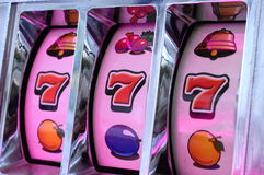 Jackpot auf Spielautomaten Lizenzfreies Stockbild