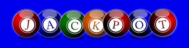 Jackpot Balls Stock Photos