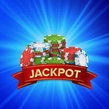 Jackpot Big Win Sign Vector Background. Design For Online Casino, Poker, Roulette, Slot Machines, Playing Cards, Mobile Royalty Free Stock Photo
