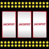 Jackpot on black background Royalty Free Stock Image