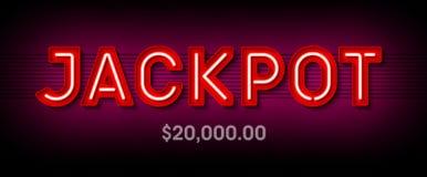 Jackpot banner stock illustration