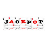 Jackpot Cards Logo. Playing cards spelling jackpot logo vector illustration Royalty Free Stock Images