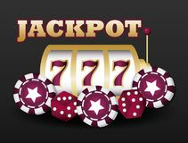 Jackpot and casino design. Casino design with jackpot over black background, colorful design. vector illustration royalty free illustration