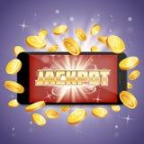 Jackpot casino vector poster banner design template stock illustration