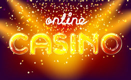 Jackpot casino win lettering stage Stock Images