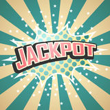 Jackpot Comic Speech  Bubble. Vector Royalty Free Stock Image