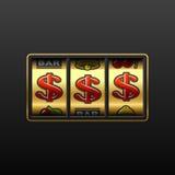 Jackpot do dólar - ganhando na máquina de entalhe Fotografia de Stock Royalty Free