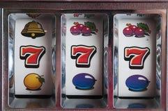 Jackpot drei sieben Stockfotografie