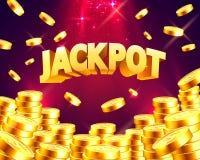 Jackpot in Form von Goldmünzen stock abbildung