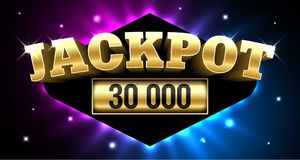 Jackpot banner royalty free illustration