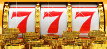 Jackpot, Gambling Gain, Luck And Success Concept Royalty Free Stock Photography