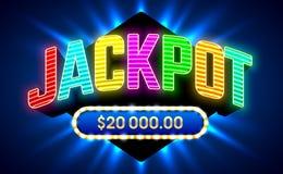 Jackpot gambling game banner. Jackpot gambling game bright banner vector illustration