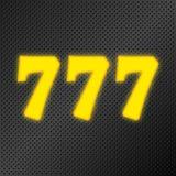 777 jackpot gold neon. 777 jackpot golden neon sign, casino winner triple sevens. Vector illustration stock illustration