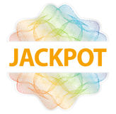 Jackpot - Guilloche rosette with text on white background.  royalty free illustration