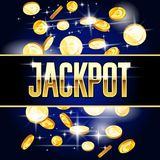 Jackpot header and coins - casino and win background. Jackpot header and coins - casino, gambling and win background stock illustration